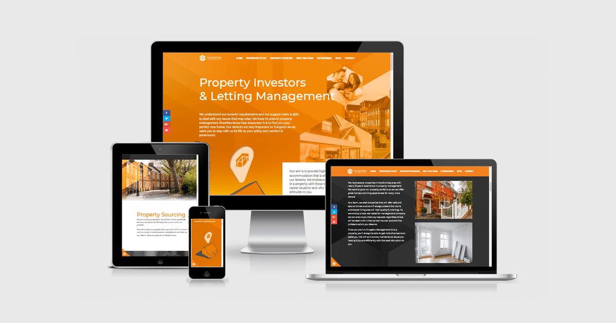 web design on desktop laptop tablet and mobile